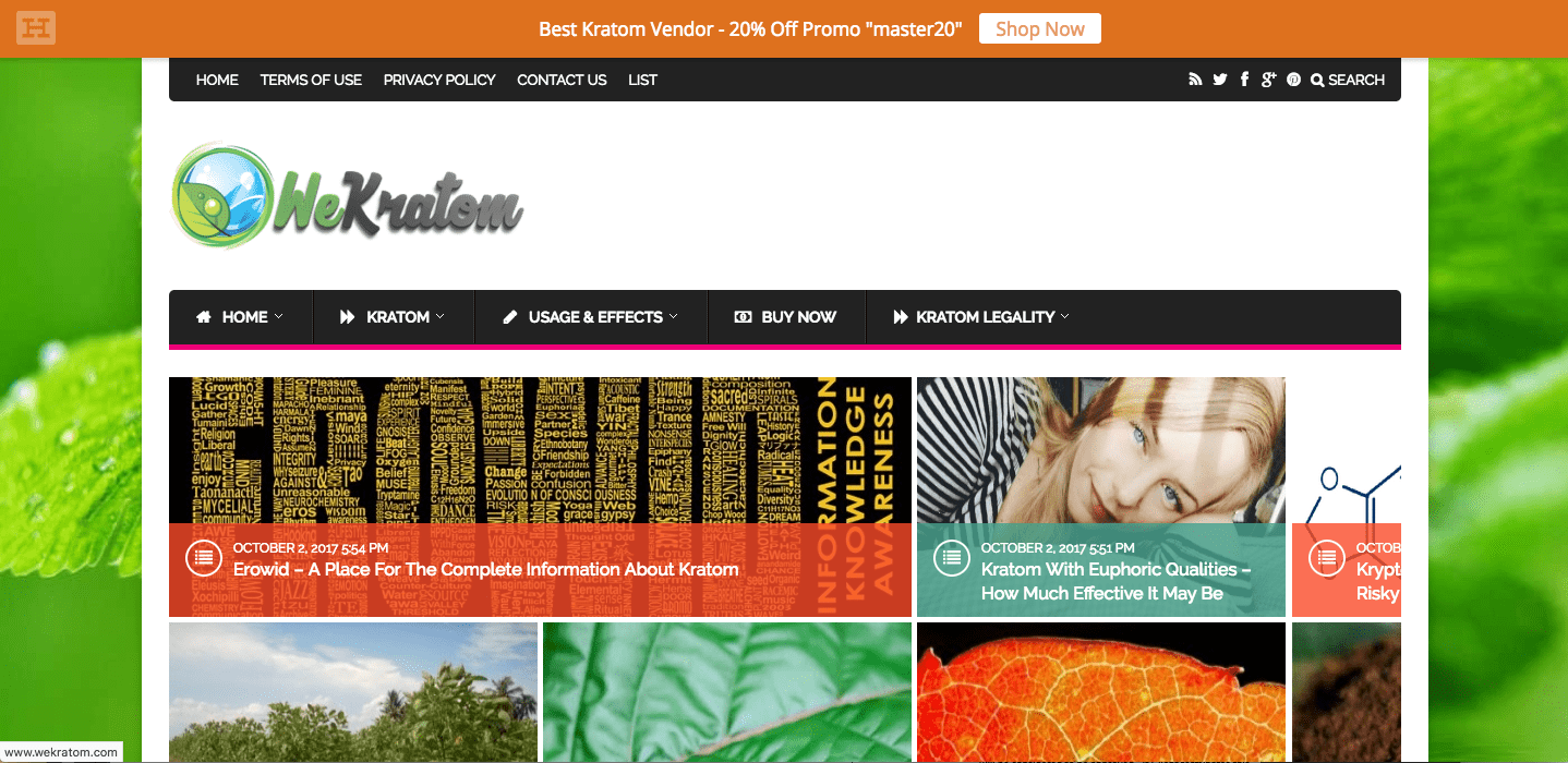 """What's Working With This Site's Design"" – We Kratom"